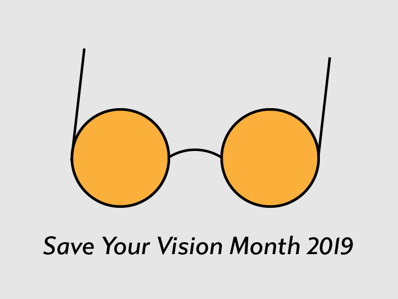 Save Your Vision Month. Illustration of Glasses.