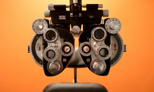 This is a photo of equipment used for annual eye exams.