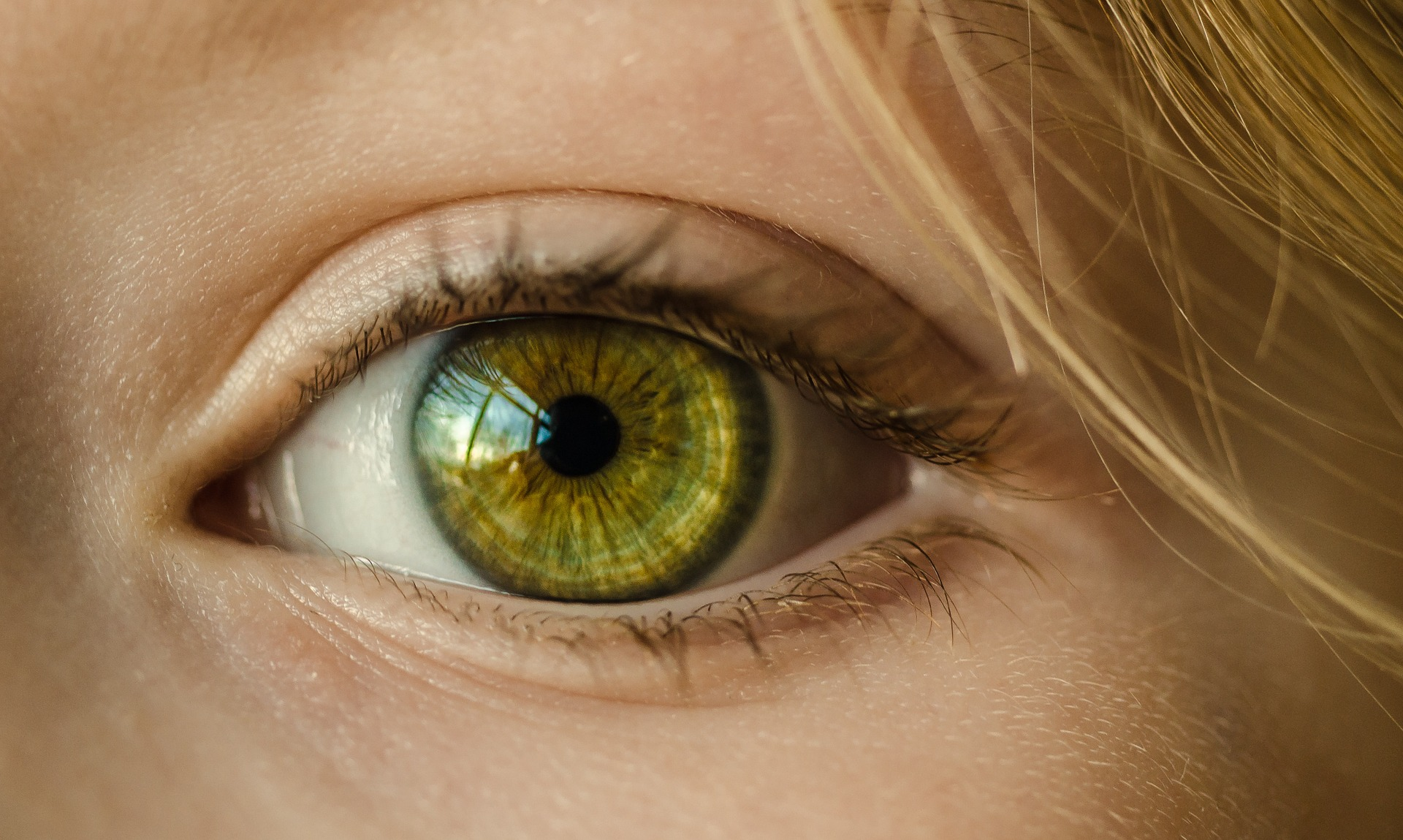 Picture of an eye to show what do eyes say about health?